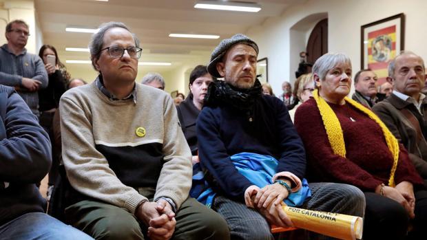 Quim Torra ,en el Monasterio de Montserrat de Barcelona este fin de semana