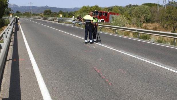 Mossos, el pasado verano tomando pruebas tras un accidente en Tarragona