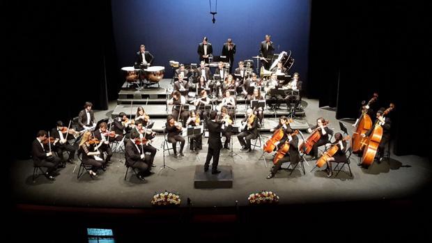La Orquesta Filarmónica de La Mancha en una de sus actuaciones más recientes
