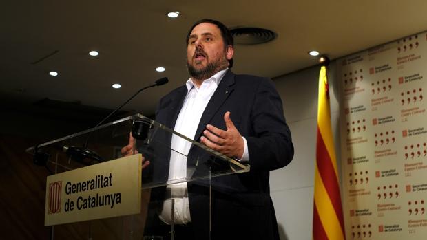 El exvicepresidente de la Generalitat Oriol Junqueras, en una foto de archivo