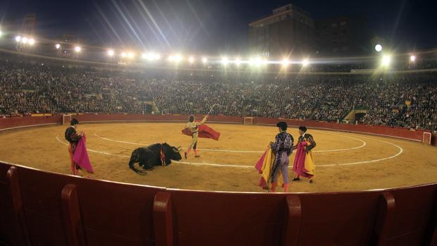 Imagen de archivo de una corrida de toros de Fallas de Valencia