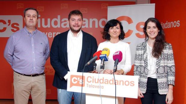 Afiliados de Ciudadanos en Talavera en una imagen de 2017