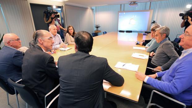 Imagen del encuentro mantenido este jueves en la Consellería