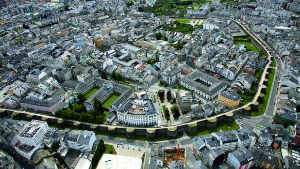 Vista aérea de la ciudad de Lugo