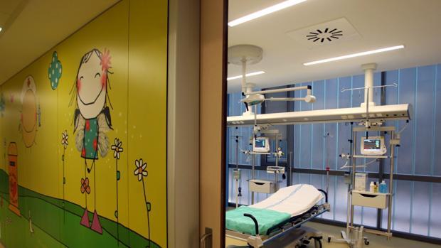 Sala de espera para urgencias pediátricas del Hospital Universitario Río Hortega de Valladolid