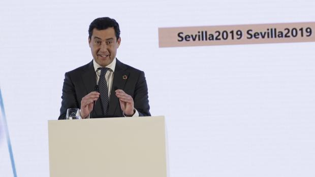 El presidente de la Junta de Andalucía, Juan Manuel Moreno