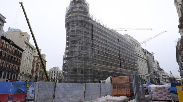 Las obras en el complejo de Canalejas, entre las calles de Alcalá y Sevilla