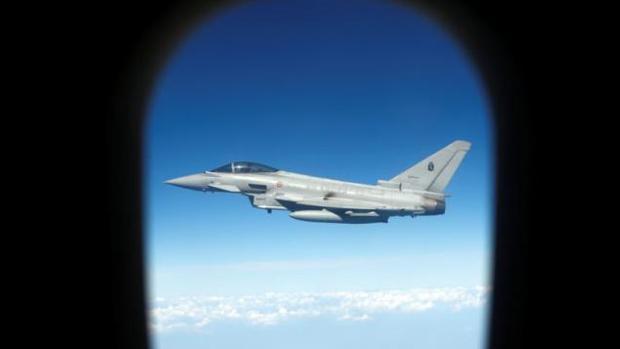 Vista de una interceptación en unas maniobras de la OTAN