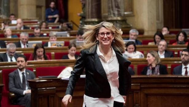 Elsa Artadi, hoy, en el Parlamento de Cataluña