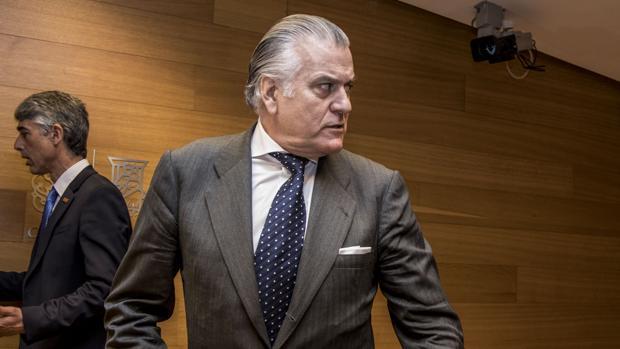 El extesorero del PP Luis Bárcenas, durante la comisión de investigación de Les Corts Valencianes