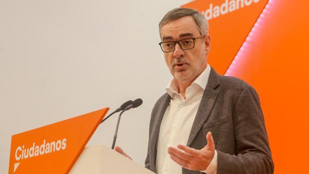 José Manuel Villegas, en la sede de Cs, en una imagen de archivo