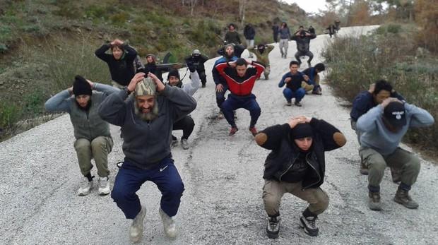 Entrenamiento de yihadistas en algún lugar de Siria