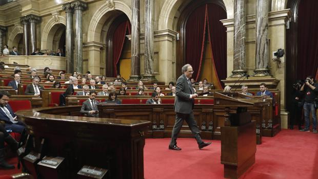 Sala de plenos del Parlamento de Cataluña