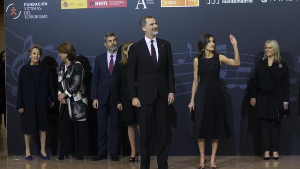 Los Reyes, este jueves en el concierto en homenaje a las víctimas del terrorismo, en el Auditorio Nacional