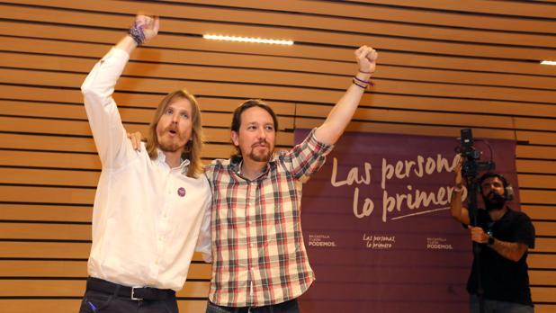 Pablo Fernández y Pablo Iglesias,e n una imagen de archivo