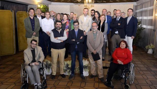 Miembros de la asociación «Nos gusta Puy du Fou en Toledo», este martes en «Venta de Aires»