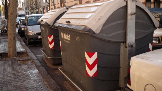 Contenedores de basura en Barcelona