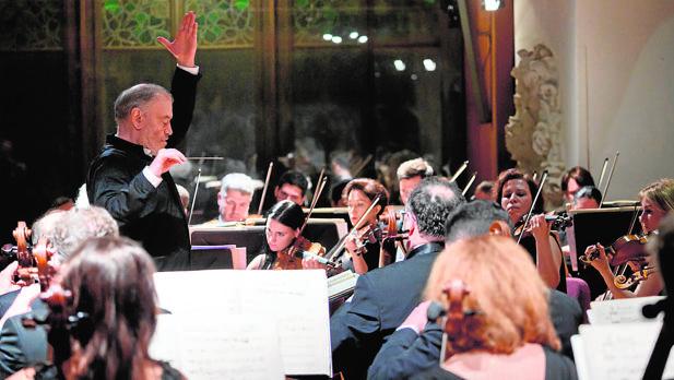 Valery Gergiev, durante su actuación en el Palau de la Música
