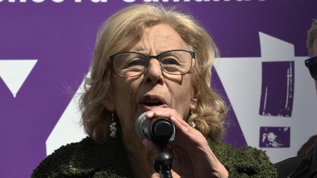 La alcaldesa de Madrid, Manuela Carmena, en una imagen de archivo