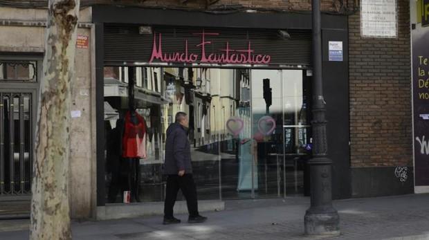 El «sex shop» de la calle de Atocha, Mundo Fantástico, ya reducido a una tienda erótica