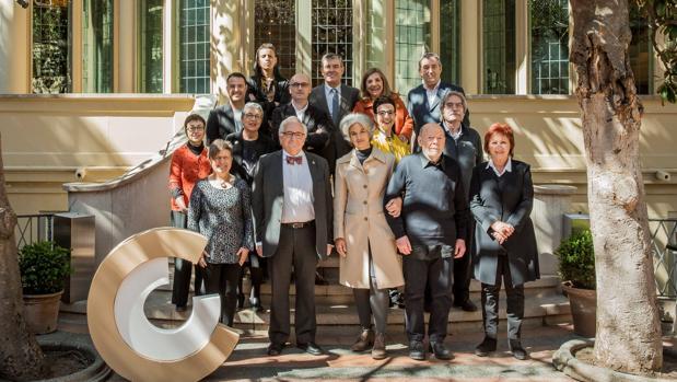 Foto de familia de los ganadores, este miércoles en Barcelona