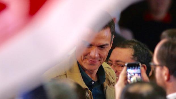 Pedro Sánchez, durante un acto de partido