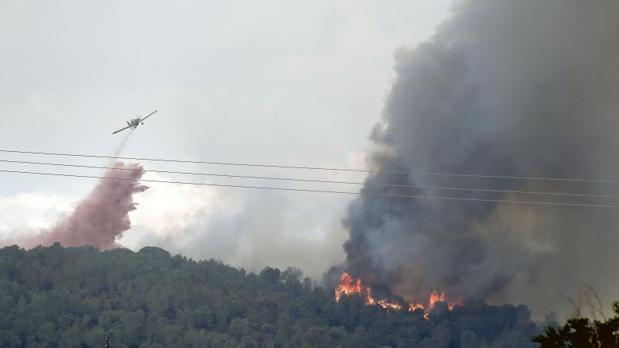 Uno de los incendios coincidentes en junio de 2016 con el del juicio al pirómano, en la provincia de Valencia