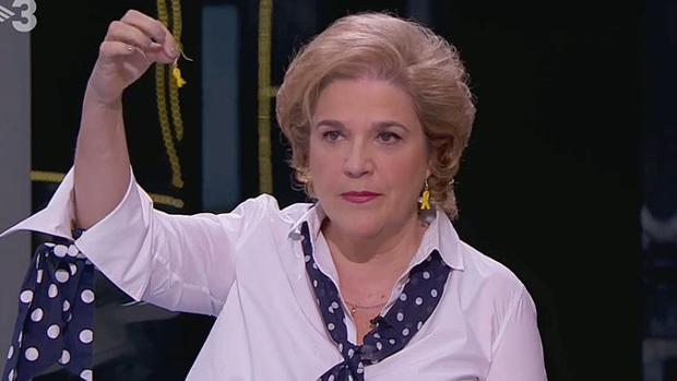 La tertuliana Pilar Rahola, una de las voces más influyentes del secesionismo, siempre tiene un altavoz en TV3