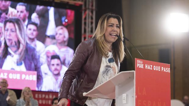 Susana Díaz, durante un mitin en Sevilla el pasado sábado