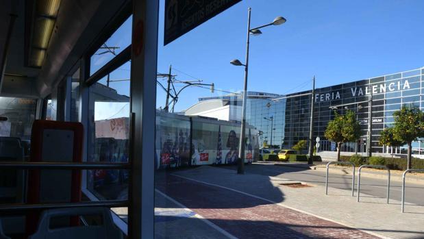 Imagen del tranvía en Feria Valencia