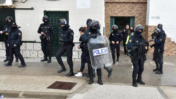 Imagen de archivo de una operación policial contra el narcotráfico en Algeciras