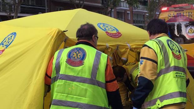 Los servicios de emergencias trataron de revertir la parada cardiorrespiratoria del varón