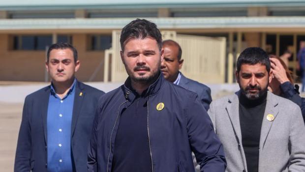 Rufián, recientemente en una visita a los presos a la cárcel de Soto del Real