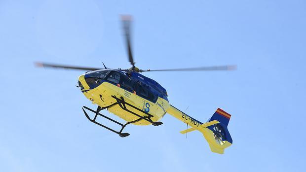 La persona que resultó herida tuvo que ser trasladada en avión medicalizado al hospital