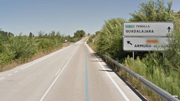 Carretera donde tuvo lugar el accidente de tráfico