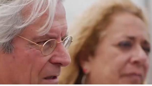 Javier Nart y la candidata en Las Palmas de Ciudadanos, Beatriz Correas