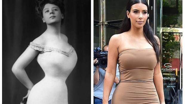 Modelo de comienzos de siglo XX y Kim Kardashian: las curvas coinciden