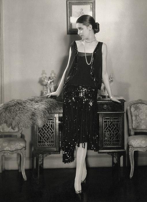 Marion Morehouse con vestido de Chanel, en 1926