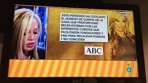 Belén Esteban abre una investigación para saber qué pasó con los 5.000 euros destinados a Lorca