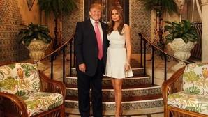 Donald y Melania Trump en su casa de Miami