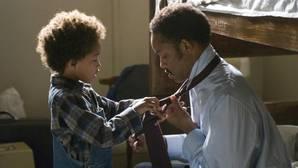 Jaden y Will Smith en la película «En busca de la felicidad»