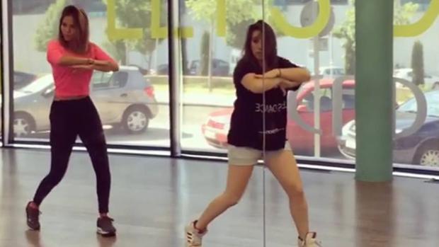 Rosanna Zanetti en clases de baile