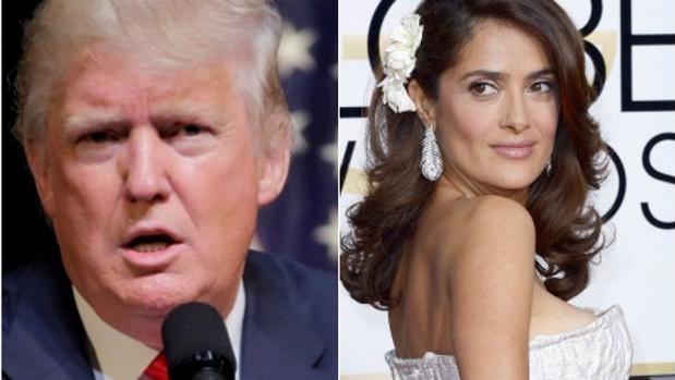 Donald Trump y Salma Hayek