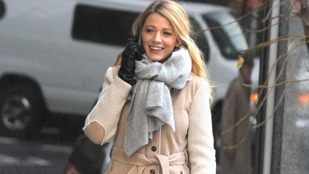 Blake Lively durante el rodaje de Gossip Girl