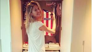La hija que espera Diego Simeone ya tiene su camiseta del Atlético de Madrid