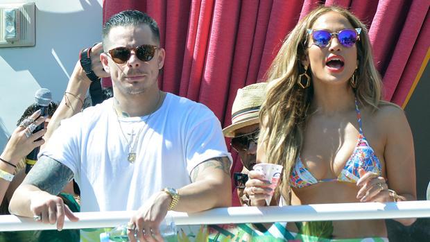 Jennifer López y Casper Smart disfrutando de Las Vegas en mayo de este año