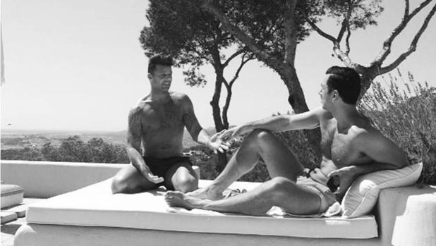 Ricky Martin y su novio en Ibiza