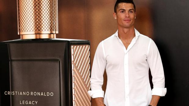 El futbolista del Real Madrid en la presentación de su perfume «Cristiano Ronaldo Legacy»
