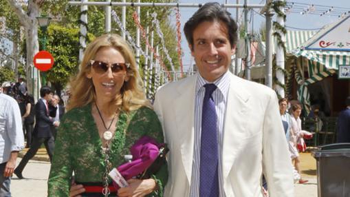Ruiz Berdejo y su novia, Pia Getty