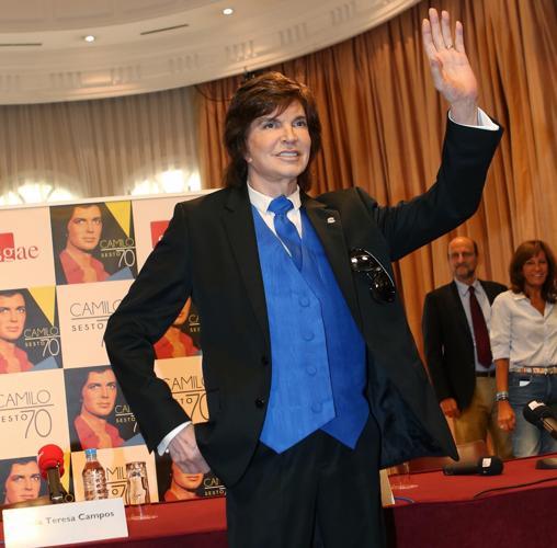 Camilo Sesto durante la presentación de su disco en la SGAE